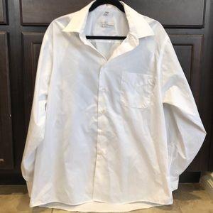 Geoffrey Beene White men's dress shirt 17-34